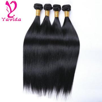 FULL HEAD 400g/4bundle Virgin Brazilian Straight Human Hair Extension Weave Weft