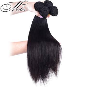 4Bundles 100% Unprocessed Virgin Straight Brazilian  human hair extension weave