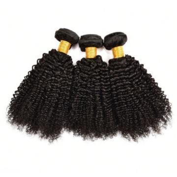3 Bundles 300g Brazilian Virgin Hair Curly Weave Human Hair Extensions Black