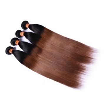 7A Brazilian Virgin Hair Ombre 2 Tone Straight Human Hair Extension 1b#30