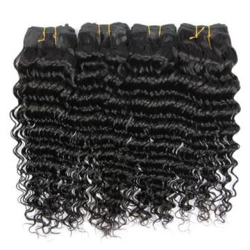 3Bundles/150g 100% Unprocessed Brazilian Virgin Deep Wave Human Hair Weave 7A