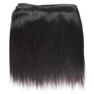 3Bundles Virgin Brazilian Human Hair 100% Real Straight Silky Natural Black Hair