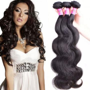 3bundles/300G 100% Remy Human Hair Brazilian Body Wave Virgin Hair Extensions