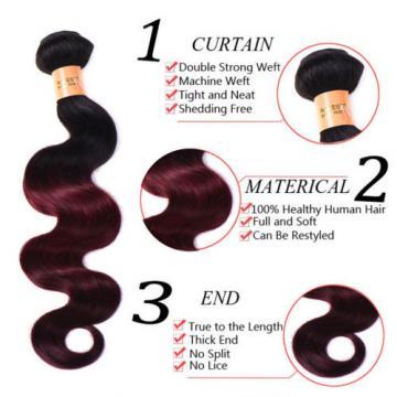 7A Brazilian Virgin Hair 4 Bundles Ombre 2 Tone Body Wave Human Hair Extensions