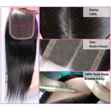Top Quality Brazilian Straight Human Hair Lace Closure Brazilian Virgin Hair