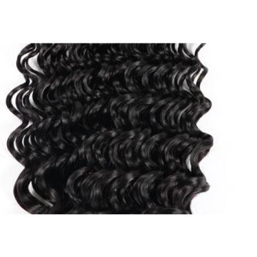1 Bundle Weave Human Hair Deep Wave Virgin Curls Brazilian Human Hair Extensions