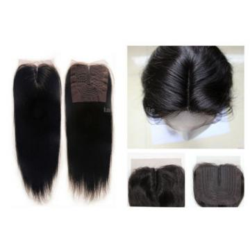 6A Brazilian Virgin Human Hair Extension Lace Top Closure Invisible Middle Part
