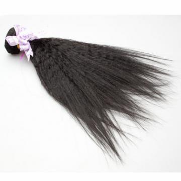 4Bundle Italian Yaki Brazilian Virgin Kinky Straight Human Hair Weave Human Hair