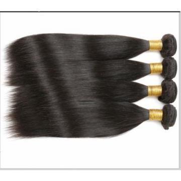 4 bundles Remy Brazilian Virgin Straight Hair 100% Human Hair Extensions 50g/Per