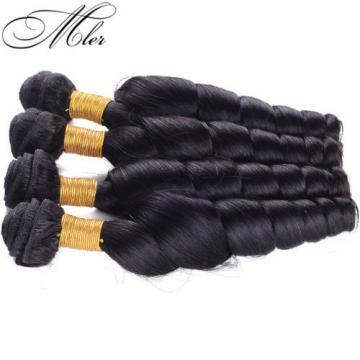 5A 3 Bundles Brazilian Human Hair Weave Virgin Loose Wave Hair Extensions Weft