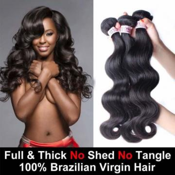 8A Brazilian Virgin Body Wave Human Hair Extensions 3 Bundles/300g Hair Weave