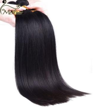 4 Bundles Brazilian Straight Virgin Hair Human Hair Extensions Weave Weft 200g