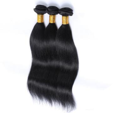 100% Brazilian Real Human Hair Extensions Virgin Body Straight Weave Hair