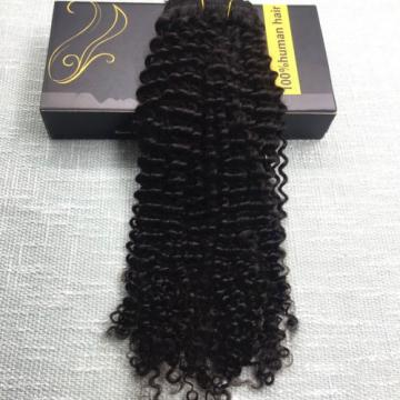 7A Kinky Curly Brazilian Virgin Clip in Human Hair Extensions Afro Full Head
