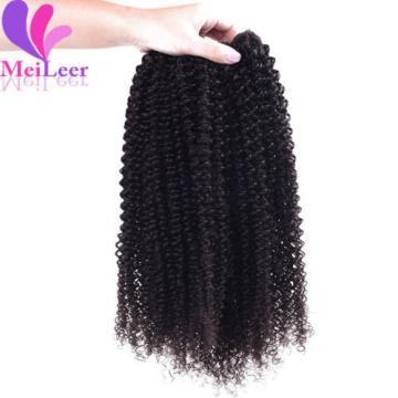 3 Bundles/150g Kinky Curly 100% Brazilian Virgin Human Hair Extension Weave Weft