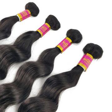 Unprocessed Brazilian Loose Wave Virgin Hair Weft Hair Bundles 8A 4 Bundles 200g