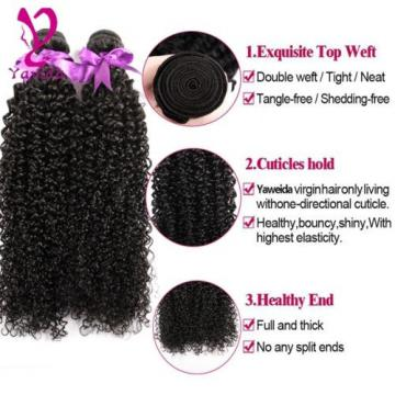 7A Kinky Curly  Virgin Brazilian Human Hair Extensions Weave 200g/2 Bundles