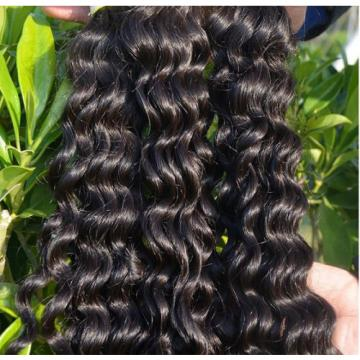 100% 6A Unprocessed Virgin Brazilian deep  wave Hair Natural Black bundles 100g