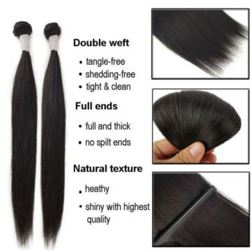 4 Bundles 200g 100% Brazilian Straight Virgin Hair Weft Hair Bundle 14 16 18 20