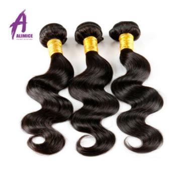 3 Bundles Body Wave Brazilian Virgin Human Hair With 360 Lace Frontal Closure 8A