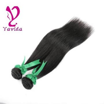 THICK Virgin Brazilian Straight Silky Human Hair Extensions Weft 2Bundles/200g