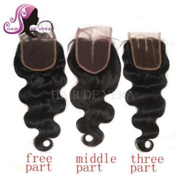 7A Brazilian Hair with Lace Closure 4 Bundles 100% Human Virgin Hair Body Wave