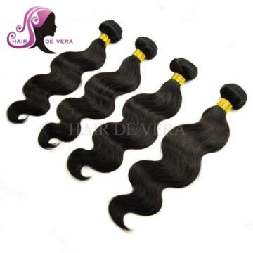 7A Brazilian Hair with Lace Closure 4 Bundles 100% Human Virgin Hair Body Wave