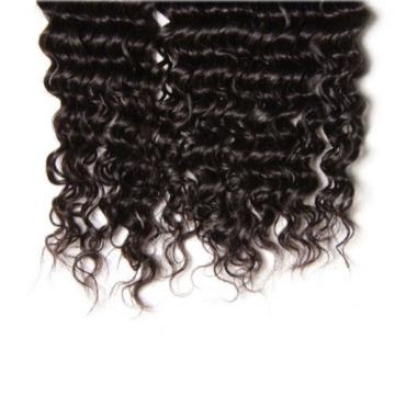 3 Bundles Brazilian 7A Kinkly Curly Remy Virgin Human Hair Extensions Weave 150G