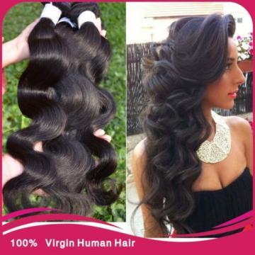 "3 Bundles(8""+10""+12"")300g Full Head Hair Weft Virgin Brazilian Body Wave Weave"