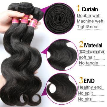 "4 bundles 10""/200g 8A Brazilian Body Wave Human Virgin Hair Weave Extension"