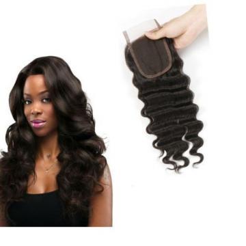 "Brazilian Hair Loose Wave 1 Pcs 4""x4"" Lace Closure Human Virgin Hair Weave 6a"