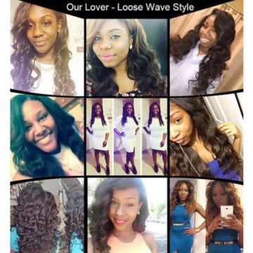 "Brazilian Hair Loose Wave 1 Pcs 4""x4"" Lace Closure Human Virgin Hair Weave 6a"