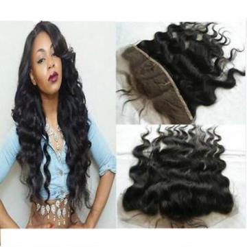 "Brazilian Virgin Hair Lace frontal Closure Body Wave Hair 13x4"" Bleach Knots"