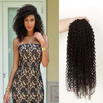 1 Bundles Virgin 100% Brazilian Kinky Curly Hair Weave Human Hair Extension Weft