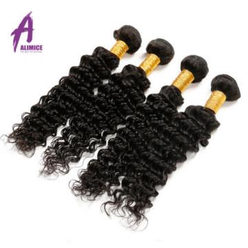 4 Bundles Deep Wave Brazilian Virgin Human Hair Extensions Bundles Curly 8A 400g