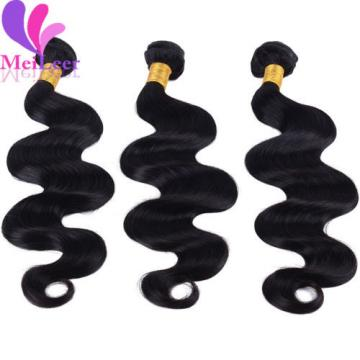 3 Bundles Virgin Weaves Body Wave Brazilian Real Human Hair Extesions Remy Hair