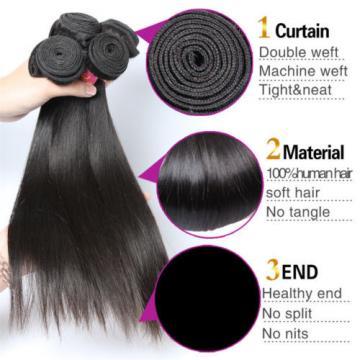 Mink Brazilian Virgin Hair Straight Human Hair 4 Bundles Human Hair Weave Bundle