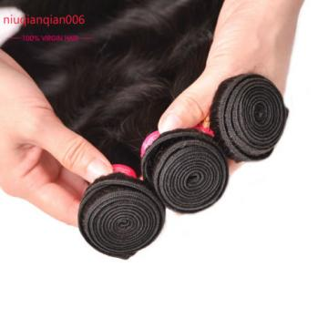 3 Bundles/150g total Brazilian Virgin Body Wave Weave Weft 100% Human Hair Wavy