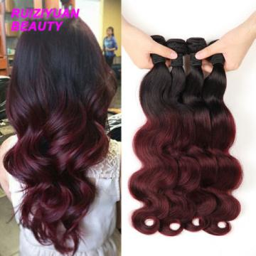 7A #T1B/99J Brazilian Human Virgin Hair Extension Body Wave Hair Weave 100g