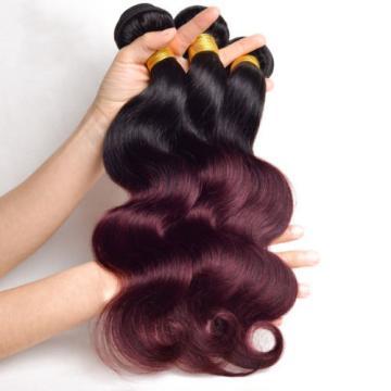 7A #T1B/99J Brazilian Human Virgin Hair Extension Body Wave Hair Weave 100g