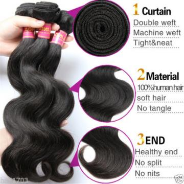 "8A Unprocessed Brazilian Virgin Hair Body Wave10""+12""+14""/150g Human Hair Weave"