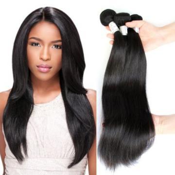 Straight hair 100% Brazilian Virgin Hair Human Hair Weave 3 Bundles Extensions
