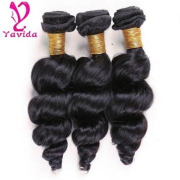 100% Unprocessed Virgin Brazilian Loose Wave Human Hair Extensions 3 Bundle/300g