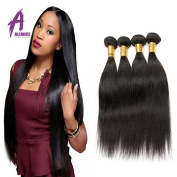 4 Bundles Straight Hair Brazilian Virgin Human Hair Extensions Weave 400g 7A
