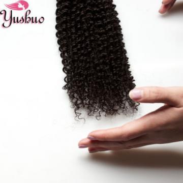 4pcs/200g 100% Unprocess Virgin kinky curly Brazilian human hair extension weave