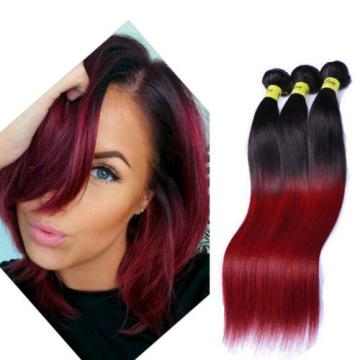 Silky straight 1b/bug Ombre Color Brazilian Virgin Human Hair 3 Bundles/150g