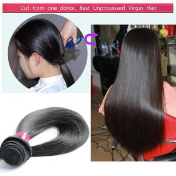 4Bundles/200g 7A Unprocessed Virgin Brazilian Straight Hair Extension HumanWeave