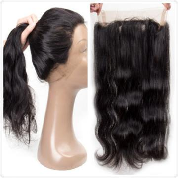 Brazilian Virgin Hair Body Wave Weft 3 Bundle 300g with 360 Lace Frontal Closure