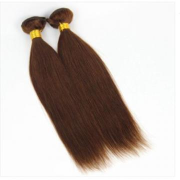 """One  Bundle 18"""" 100% Brazilian Remy Virgin Human Hair Extensions Wefts Colour #4"""