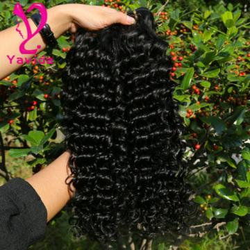Good Cheap Brazilian Deep Wave Virgin Human Hair Weave Curly Hair 300g/3Bundles